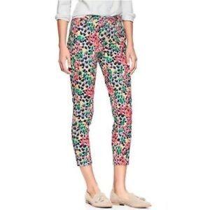 GAP skinny mini Khakis multi-color floral Jeans 6